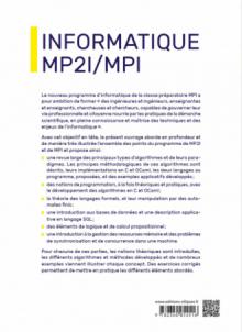 Informatique MP2I et MPI - CPGE 1re et 2e années - Nouveaux programmes