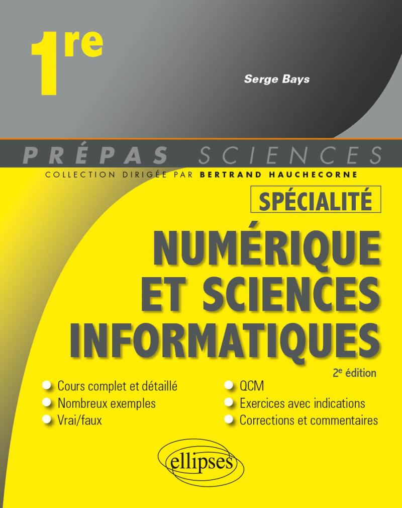 Spécialité Numérique et sciences informatiques - Première - 2e édition