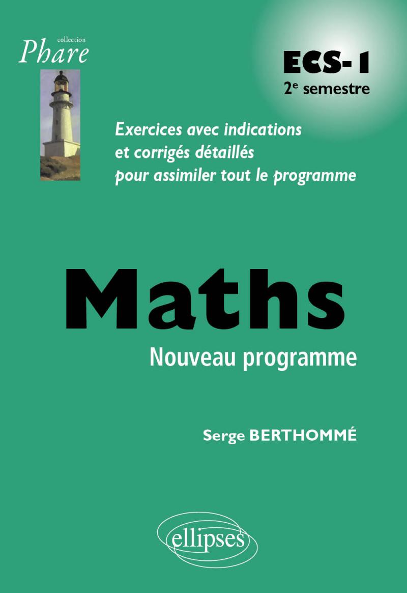 Mathématiques ECS-1 2e semestre