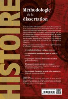 Méthodologie de la dissertation en histoire - Classes préparatoires, licence, concours
