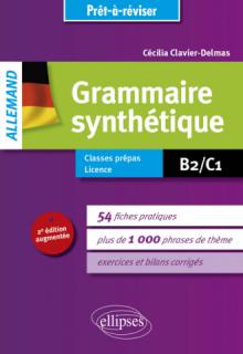 Prêt-à-réviser. Allemand. Grammaire synthétique en 54 fiches pratiques avec exercices corrigés [B2-C1] - 2e édition