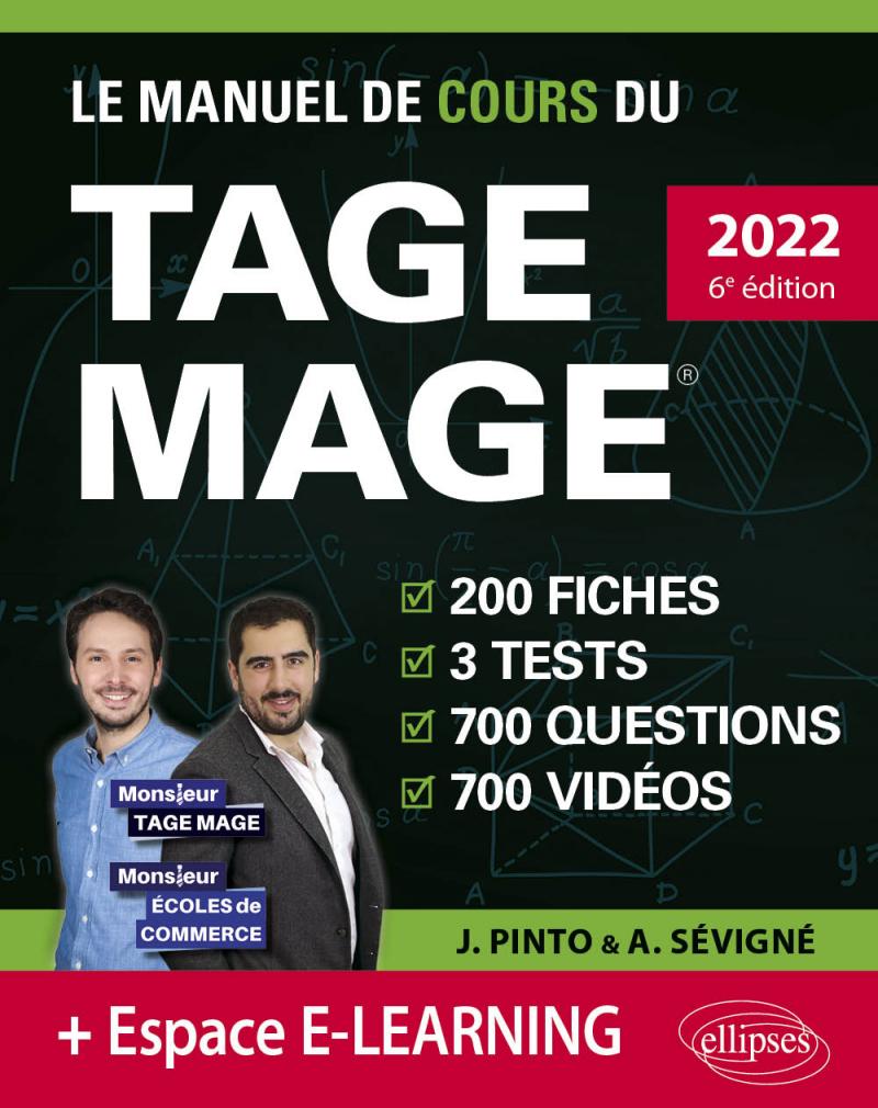Le Manuel de Cours du TAGE MAGE – 3 tests blancs + 200 fiches de cours + 700 questions + 700 vidéos - 5e édition