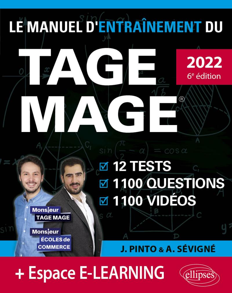 Le Manuel d'Entraînement du TAGE MAGE – 12 tests blancs + 1100 questions + 1100 vidéos