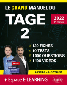 Le Grand Manuel du TAGE 2 – édition 2022 - 6e édition