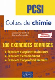 Colles de chimie - PCSI - Nouveaux programmes