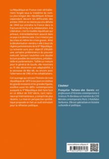 Histoire politique de la France - IIIe, IVe, Ve Républiques (1870 à nos jours) - 2e édition