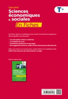 Spécialité Sciences économiques et sociales en fiches - Terminale