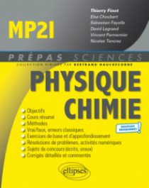Physique-Chimie MP2I - Programme 2021