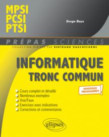 Informatique tronc commun - MPSI - PCSI - PTSI - Programme 2021