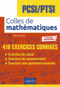 Colles de Mathématiques - PCSI - PTSI - Programme 2021