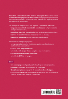 Capes Espagnol. Épreuve écrite disciplinaire appliquée. Session 2022