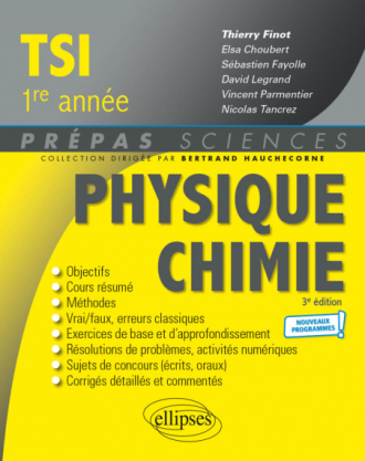 Physique-Chimie TSI1 - Programme 2021 - 3e édition