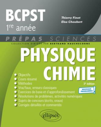 Physique-Chimie BCPST1 -  Programme 2021 - 3e édition