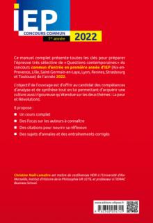 Concours commun IEP 2022. 1re année.  La peur / Révolutions
