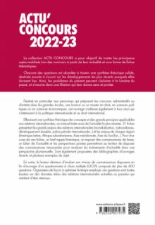 Relations internationales 2022-2023 - Cours et QCM
