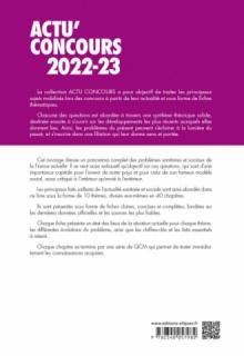 Thèmes sanitaires et sociaux 2022-2023 - Cours et QCM