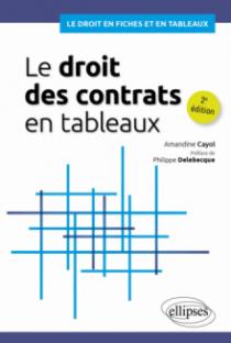 Le droit des contrats en tableaux - 2e édition