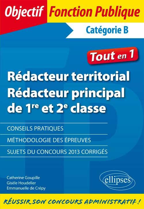 b8fd16acaa8 Rédacteur territorial et rédacteur principal - Catégorie B ...