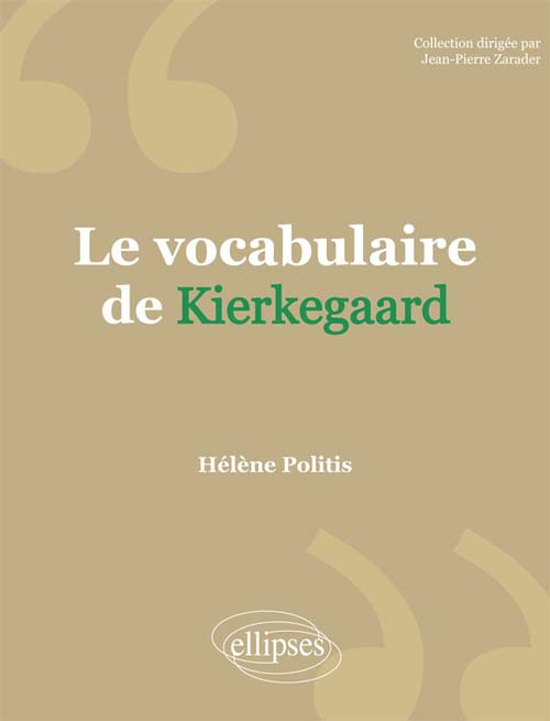 Le vocabulaire de Kierkegaard