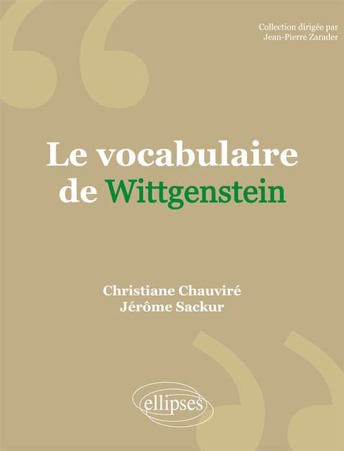 Le vocabulaire de Wittgenstein