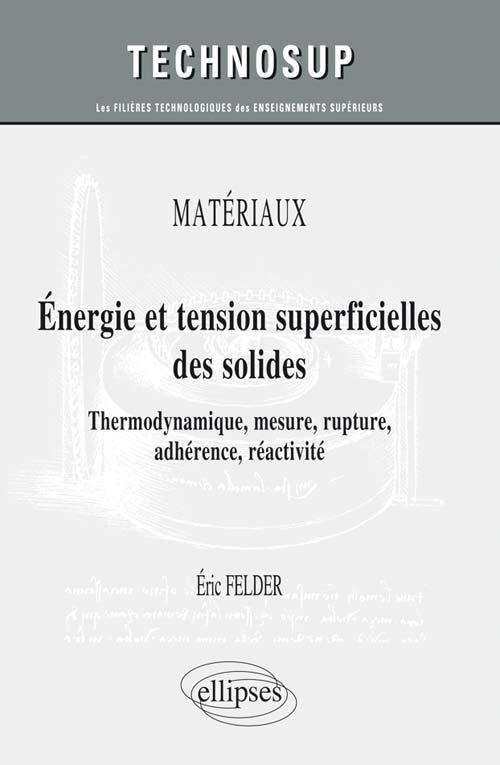 Mat riaux energie et tension superficielles des solides for Table thermodynamique de l eau