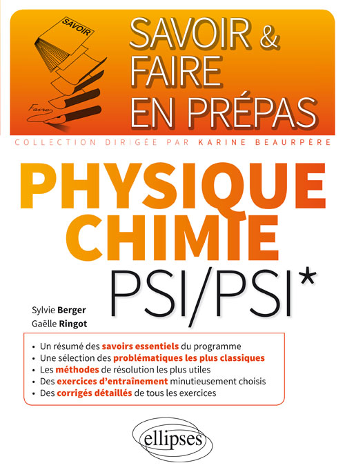 Physique-chimie PSI/PSI*