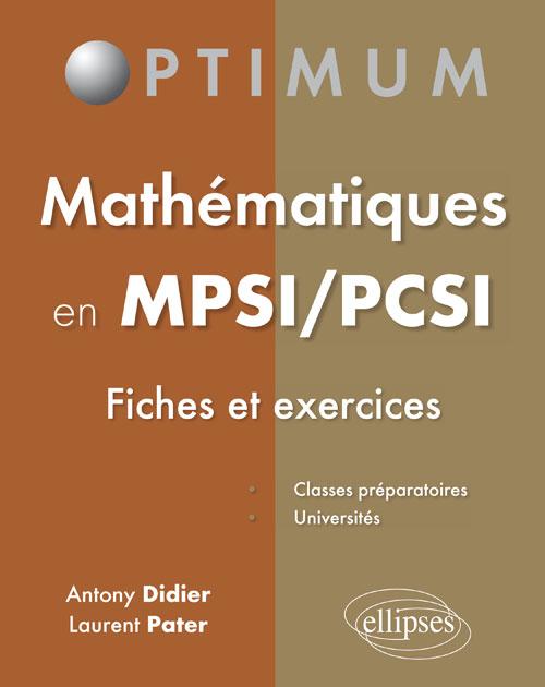 Mathématiques en MPSI/PCSI (fiches et exercices) - Classes