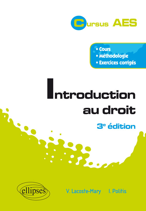 Introduction au droit - 3e édition