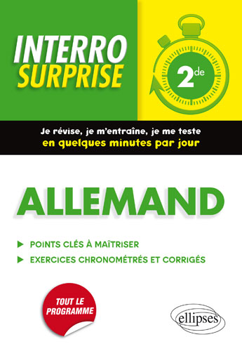 Allemand. Interro Surprise. Classe de Seconde.