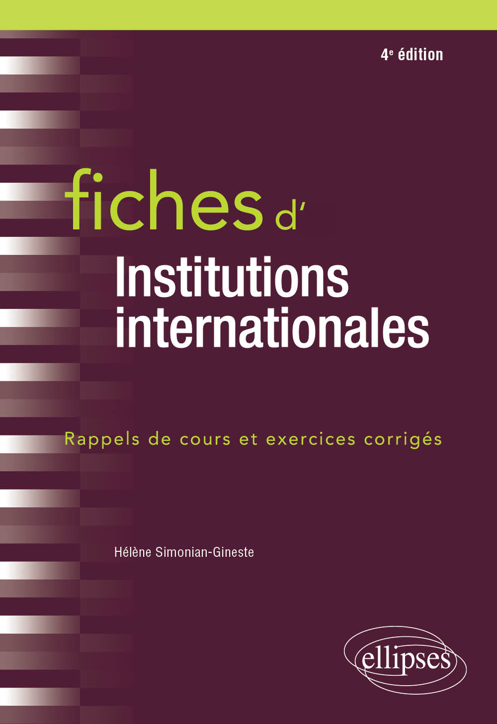 Fiches d'Institutions internationales - 4e édition