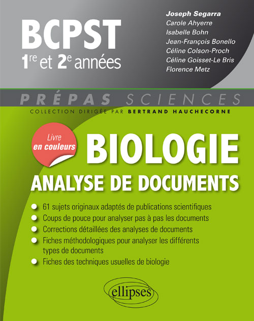 Biologie - Analyse de documents - BCPST 1re et 2e années
