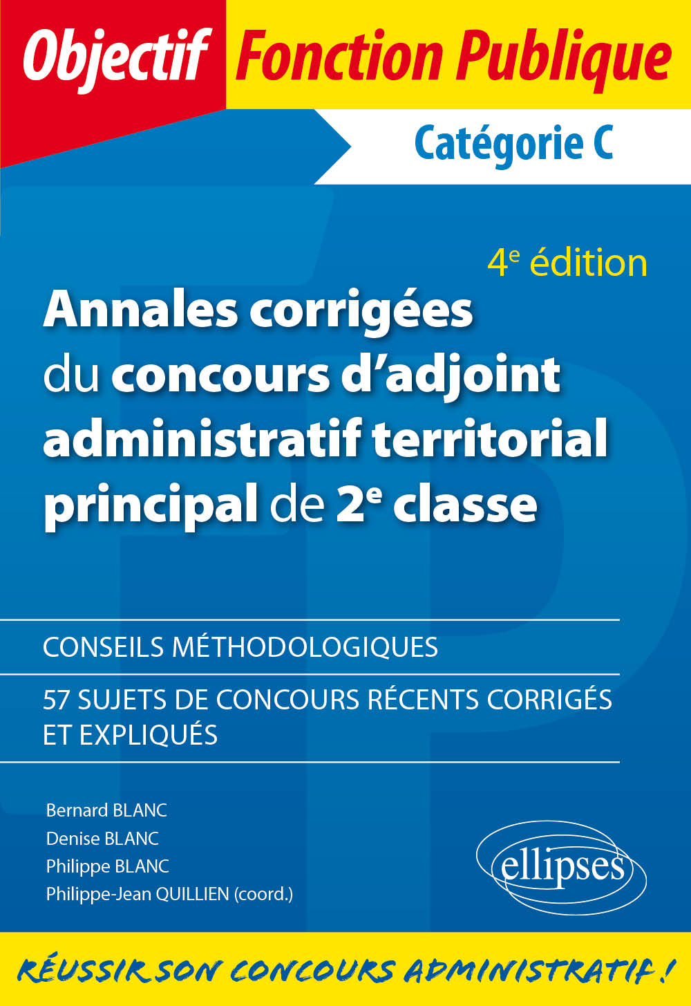 36e4552ab36 Annales corrigées du concours d adjoint administratif territorial principal  de 2e classe - 4e édition
