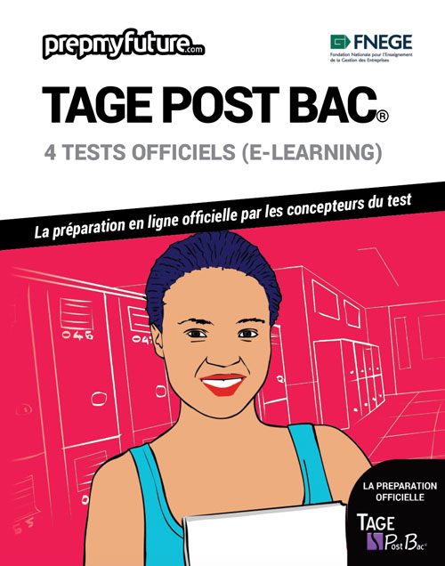 TAGE® POST BAC. 4 tests officiels (e-learning)