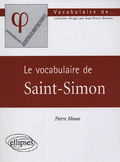 Le vocabulaire de Saint-Simon