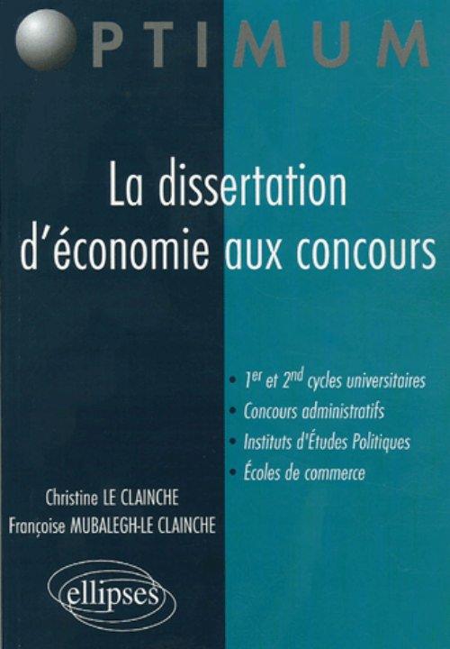 sujet de dissertation en economie