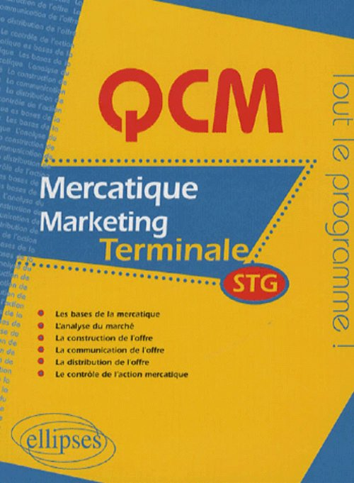 QCM mercatique - marketing - Terminale STG