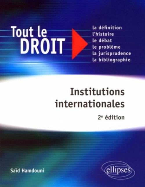 Institutions internationales - 2e édition