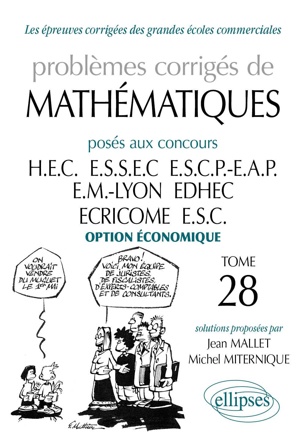exercices de mathematiques de la terminale a la grande ecole de management cpec option economique