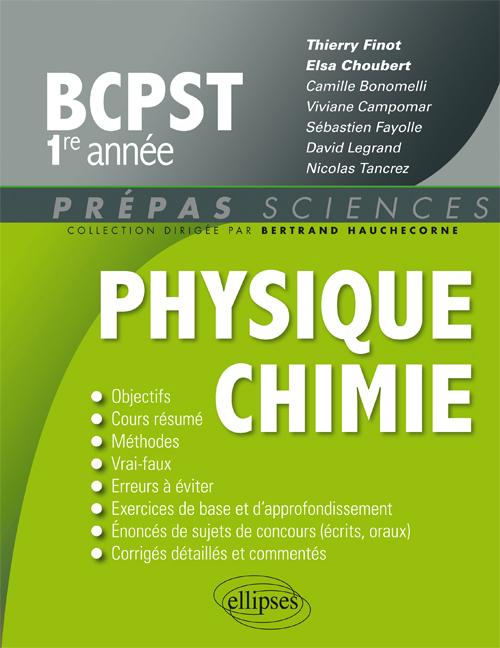 Physique-Chimie BCPST 1re ann�e