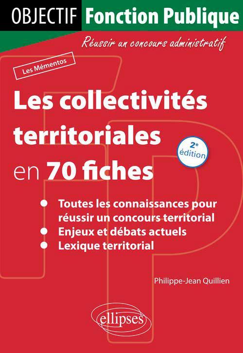e702ec72cc5 Les collectivités territoriales en 70 fiches - 2e édition - Concours ...