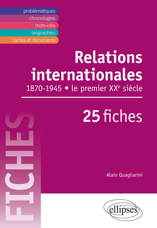 Relations internationales au XXe si�cle en fiches