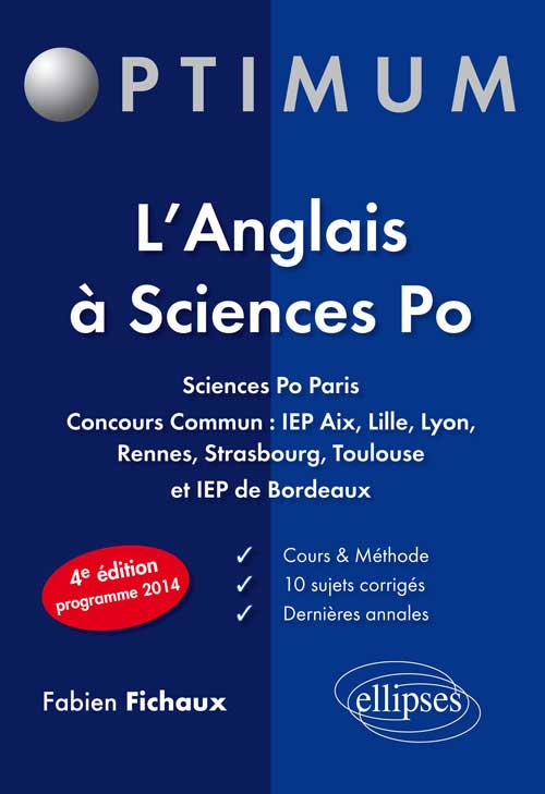 L�anglais � Sciences Po - 4e �dition