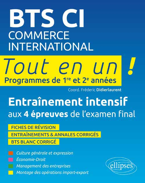 BTS commerce international � Tout en un � 1e et 2e ann�e