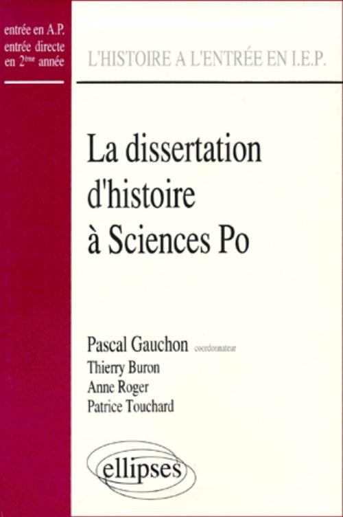Dissertation sciences po